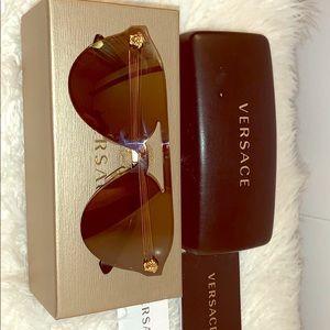 Gold Glam Medusa Sunglasses Versace